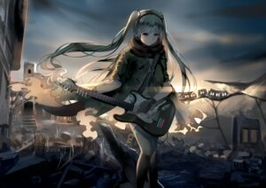 Rating: Safe Score: 30 Tags: guitar hatsune_miku headphones thighhighs torn_clothes vocaloid weitu User: mattiasc02