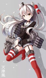 Rating: Safe Score: 77 Tags: amatsukaze_(kancolle) kantai_collection nikkunemu pantsu rensouhou-chan stockings thighhighs User: tbchyu001