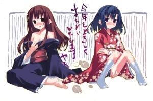 Rating: Questionable Score: 7 Tags: kimono matsuzawa_komaki soma_hiroka watashitachi_no_tamura-kun yasu User: withul