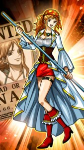 Rating: Safe Score: 7 Tags: cleavage garter heels nami one_piece tagme weapon User: charunetra
