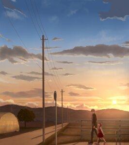 Rating: Safe Score: 9 Tags: doujima_nanako landscape megaten narukami_yuu persona persona_4 yuugure User: D-king