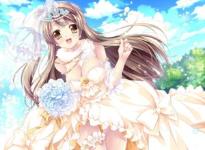 Rating: Safe Score: 51 Tags: cleavage dress garter love_live! minami_kotori sakurano_ruu wedding_dress User: Mr_GT