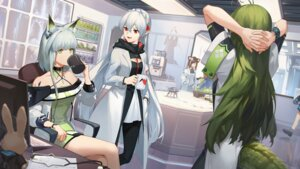 Rating: Safe Score: 10 Tags: 3four animal_ears arknights dress tail wallpaper User: Mr_GT