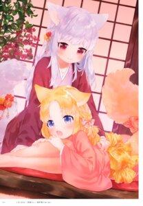 Rating: Safe Score: 17 Tags: animal_ears kimono mutou_mato nekomimi tagme tail yuri User: kiyoe