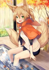Rating: Safe Score: 44 Tags: animal_ears bike_shorts haik kitsune tail wet User: Mr_GT