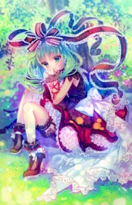 Rating: Safe Score: 32 Tags: amo dress garter heels kagiyama_hina lolita_fashion touhou User: Mr_GT