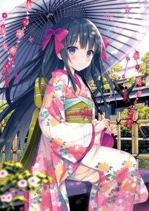 Rating: Safe Score: 143 Tags: kimono umbrella yuuki_rika User: fairyren
