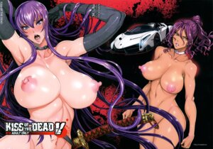 Rating: Questionable Score: 71 Tags: busujima_saeko fei highschool_of_the_dead maidoll minami_rika naked nipples sword User: Zenex