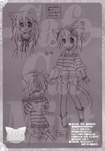 Rating: Safe Score: 1 Tags: animal_ears mochizuki_nana monochrome nekomimi sketch tail tenjikuya thighhighs User: MirrorMagpie