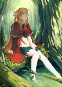 Rating: Safe Score: 59 Tags: little_red_riding_hood_(character) liuli red_riding_hood thighhighs User: zgyxzzl