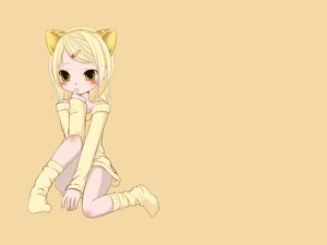 Rating: Safe Score: 9 Tags: animal_ears kagamine_rin momo_michi vocaloid wallpaper User: MadMan