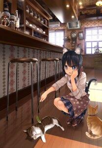 Rating: Safe Score: 58 Tags: animal_ears namamizu000 neko nekomimi seifuku tail User: Mr_GT