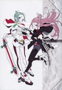 Rating: Questionable Score: 18 Tags: anemone bleed_through eureka eureka_seven heels yoneyama_mai User: Radioactive