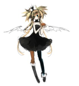 Rating: Safe Score: 17 Tags: elf halloween himehi lolita_fashion pantyhose pointy_ears wings User: fireattack
