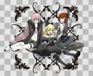 Rating: Safe Score: 5 Tags: dera imitation_black_(vocaloid) kagamine_rin megurine_luka meiko vocaloid User: charunetra