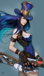 Rating: Safe Score: 20 Tags: caitlyn cleavage dress gun league_of_legends showcat User: charunetra