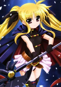 Rating: Safe Score: 40 Tags: fate_testarossa higa_yukari mahou_shoujo_lyrical_nanoha thighhighs weapon User: drop