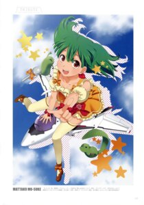 Rating: Safe Score: 9 Tags: ai-kun macross macross_frontier mattaku_mo-suke mecha oosanshouuo-san ranka_lee thighhighs User: Radioactive