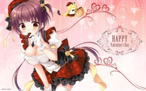 Rating: Safe Score: 31 Tags: arisue_tsukasa cleavage floral_flowlove saga_planets thighhighs tsubaki_kohane valentine wallpaper User: Christown