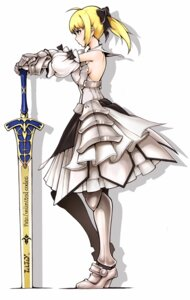 Rating: Safe Score: 20 Tags: armor fate/stay_night fate/unlimited_codes saber saber_lily sword User: Radioactive