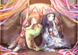 Rating: Safe Score: 23 Tags: card_captor_sakura daidouji_tomoyo japanese_clothes kinomoto_sakura siam_(meow13) User: Mr_GT
