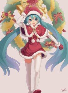 Rating: Safe Score: 33 Tags: christmas hatsune_miku thighhighs vocaloid zengxianxin User: fairyren