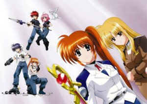 Rating: Safe Score: 6 Tags: caro_ru_lushe erio_mondial fate_testarossa friedrich gun mahou_shoujo_lyrical_nanoha mahou_shoujo_lyrical_nanoha_strikers subaru_nakajima takamachi_nanoha teana_lanster uniform User: syaoran-kun