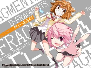 Rating: Safe Score: 11 Tags: d-fragments haruno_tomoya kazama_noe mizukami_sakura seifuku wallpaper User: meemeeshion