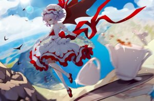 Rating: Safe Score: 24 Tags: heels leidami pointy_ears remilia_scarlet skirt_lift touhou wings User: RyuZU