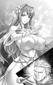 Rating: Questionable Score: 32 Tags: cleavage dress erect_nipples monochrome no_bra rindou_aya weapon User: mash