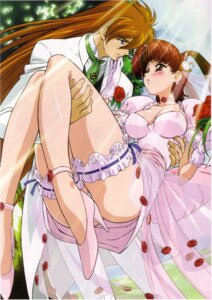 Rating: Questionable Score: 29 Tags: cleavage dress erect_nipples garter kimura_takahiro shishiou_gai utsugi_mikoto wedding_dress yuusha_ou_gaogaigar User: Radioactive