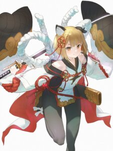 Rating: Safe Score: 16 Tags: animal_ears bodysuit granblue_fantasy japanese_clothes sword vajra_(granblue_fantasy) wasabi60 User: yanis