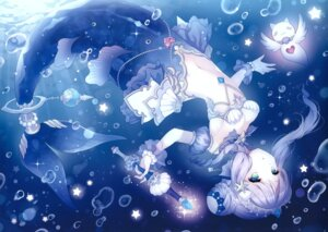 Rating: Safe Score: 69 Tags: mermaid tail w.label wasabi_(artist) User: yyx007