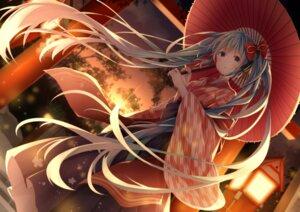 Rating: Safe Score: 16 Tags: hatsune_miku japanese_clothes koki_(latte1023) umbrella vocaloid User: BattlequeenYume