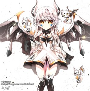 Rating: Safe Score: 10 Tags: cezhun elsword eve_(elsword) horns pantsu thighhighs wings User: kail28391
