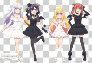 Rating: Safe Score: 74 Tags: angel cleavage devil dress gabriel_dropout heels horns kumagai_katsuhiro kurumizawa_satanichia_mcdowell pantyhose shiraha_raphiel_ainsworth stockings tenma_gabriel_white thighhighs tsukinose_vignette_april wings User: Twinsenzw