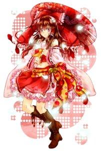 Rating: Safe Score: 26 Tags: hakurei_reimu kujaku_renka lolita_fashion miko touhou wa_lolita User: vanilla