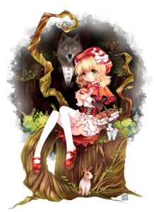 Rating: Safe Score: 31 Tags: big_bad_wolf duji_amo garter little_red_riding_hood_(character) red_riding_hood thighhighs User: Mr_GT