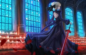 Rating: Safe Score: 32 Tags: dress fate/stay_night pasoputi saber saber_alter sword User: charunetra