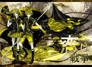 Rating: Safe Score: 5 Tags: kagamine_len kagamine_rin koi_wa_sensou_(vocaloid) vocaloid zukiyuki User: Radioactive