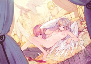 Rating: Questionable Score: 145 Tags: angel kimura_daisuke loli naked nipples wings yuri User: fireattack