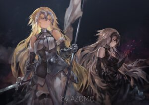 Rating: Safe Score: 54 Tags: armor avamone fate/grand_order jeanne_d'arc jeanne_d'arc_(alter)_(fate) jeanne_d'arc_(fate) sword thighhighs User: RyuZU