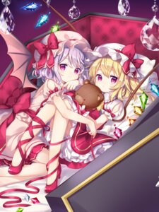 Rating: Safe Score: 36 Tags: bloomers flandre_scarlet heels mimi_(mimi_puru) remilia_scarlet skirt_lift touhou wings User: Mr_GT
