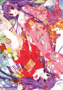 Rating: Safe Score: 60 Tags: cleavage ichiri kimono no_bra User: fireattack