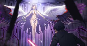 Rating: Safe Score: 46 Tags: administrator kirito naked rhasta sword sword_art_online sword_art_online_alicization wings User: Mr_GT