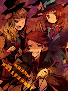 Rating: Safe Score: 11 Tags: beatrice halloween hanokage umineko_no_naku_koro_ni ushiromiya_ange ushiromiya_battler User: 洛井夏石
