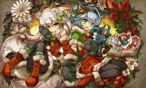 Rating: Safe Score: 8 Tags: animal_ears christmas dress kuuron pantyhose puzzle_&_dragons skirt_lift User: Mr_GT