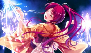 Rating: Safe Score: 65 Tags: abhar deep_blue_sky_&_pure_white_wings game_cg misaki_kurehito miyamae_tomoka yukata User: petopeto