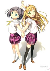 Rating: Safe Score: 63 Tags: azuki_azusa hentai_ouji_to_warawanai_neko kantoku seifuku thighhighs tsutsukakushi_tsukiko User: Twinsenzw