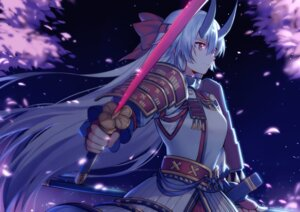 Rating: Safe Score: 27 Tags: armor fate/grand_order horns sword tomoe_gozen_(fate/grand_order) yorukun User: Nepcoheart